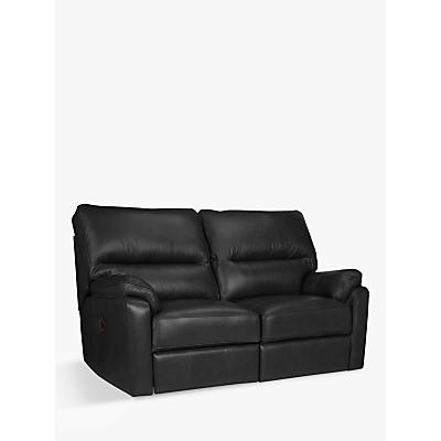 John Lewis Carlisle Manual Recliner Small 2 Seater Leather Sofa
