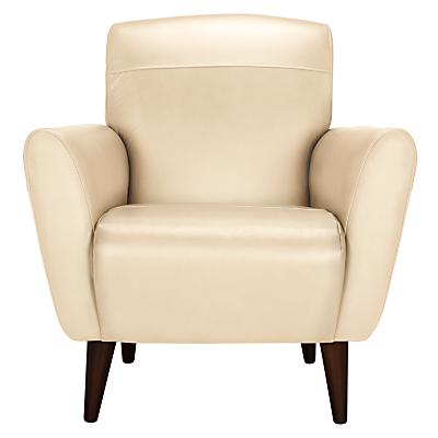 John Lewis Albie Leather Chair, Dark Leg