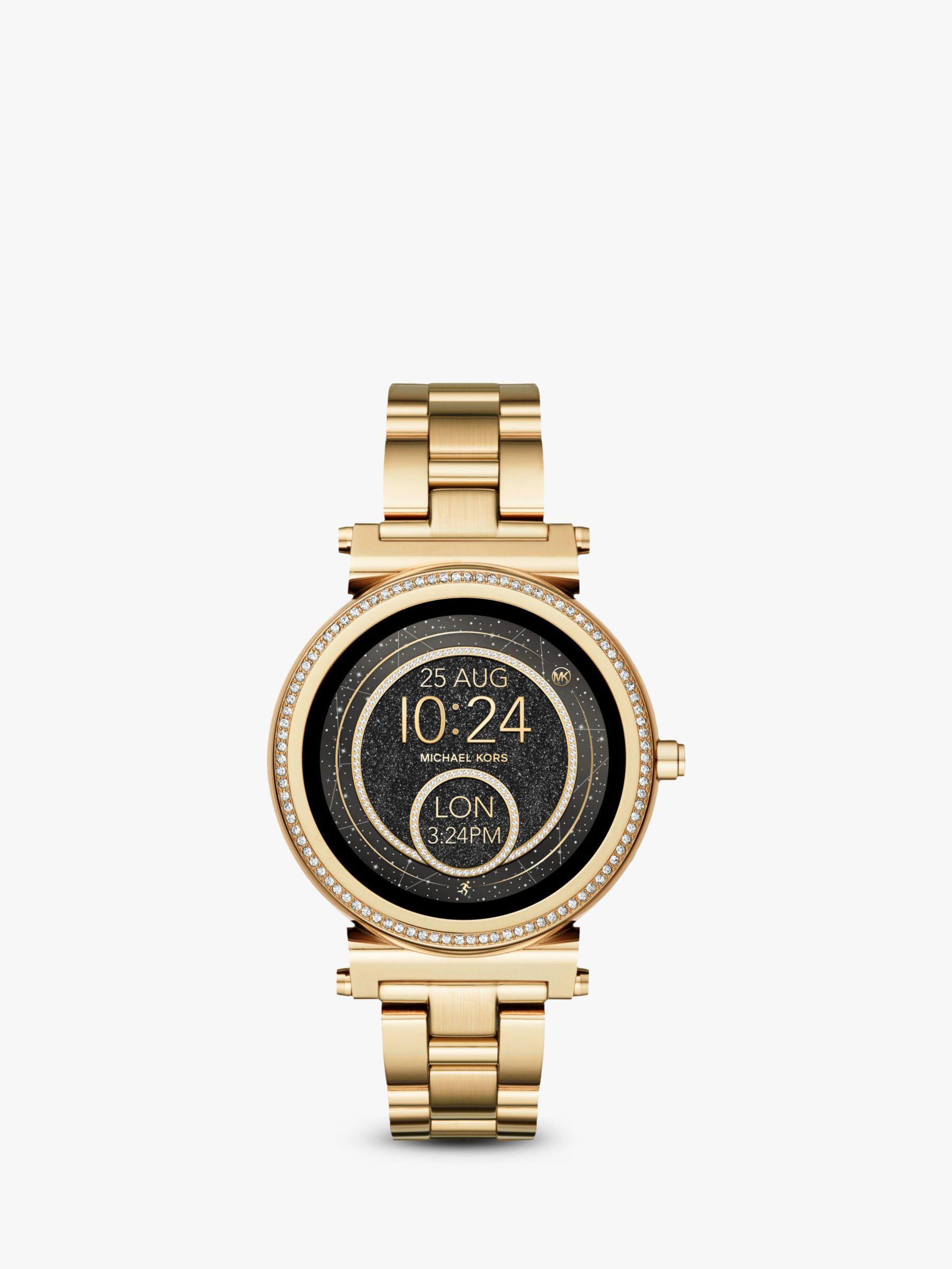 Michael Kors Access Women s Sofie Bracelet Strap Touchscreen Smartwatch at  John Lewis   Partners e5d1ffe639