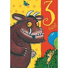 Buy Woodmansterne Gruffalo 3rd Birthday Card Online at johnlewis.com