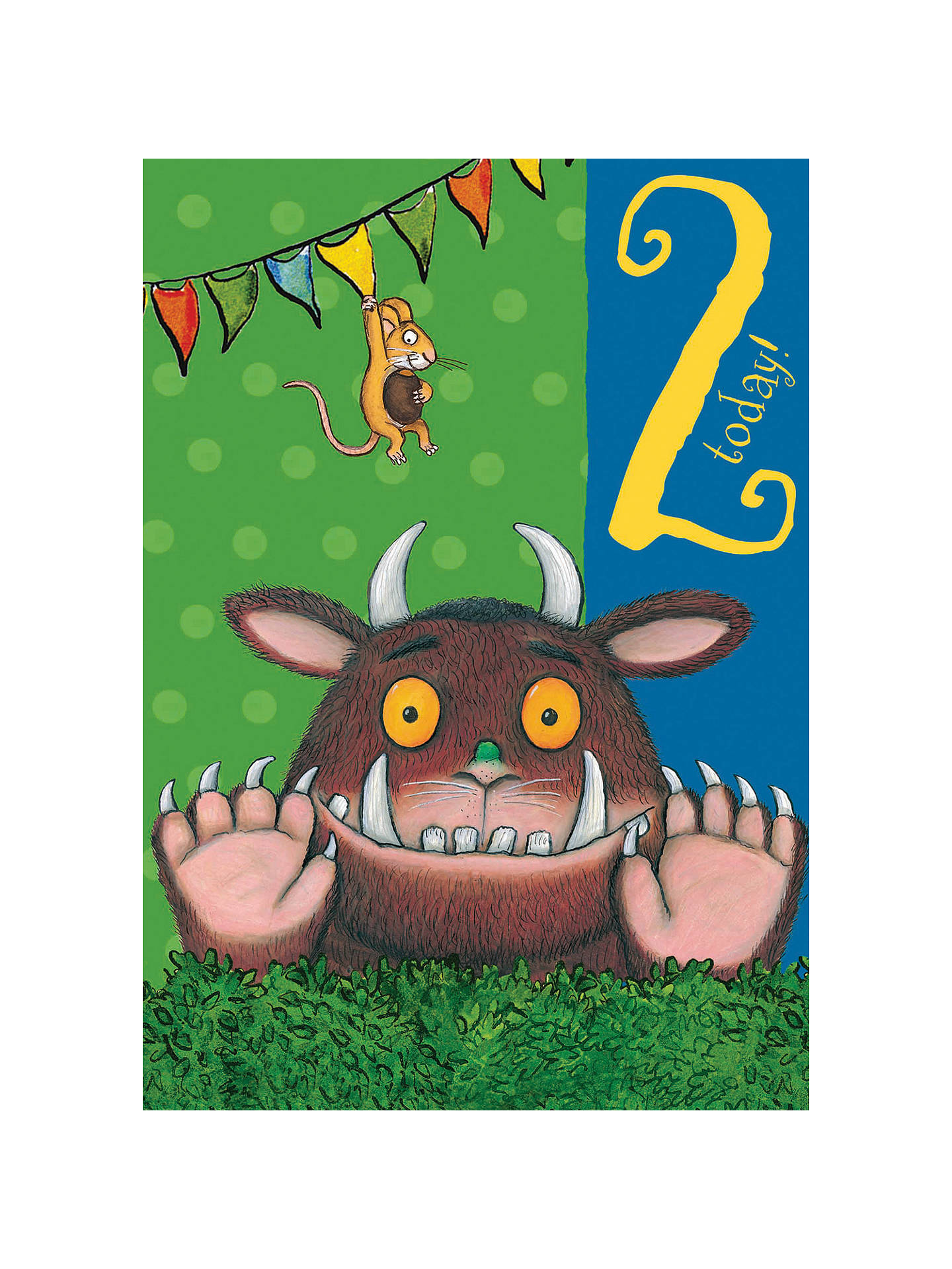 Number 2 Birthday Card NEW Gruffalo Gift Wrap and Card Set
