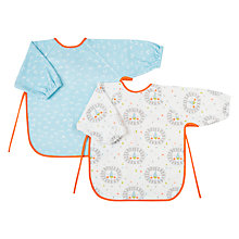Buy John Lewis BabyLion Terry Bibs, Pack of 2, Multi Online at johnlewis.com
