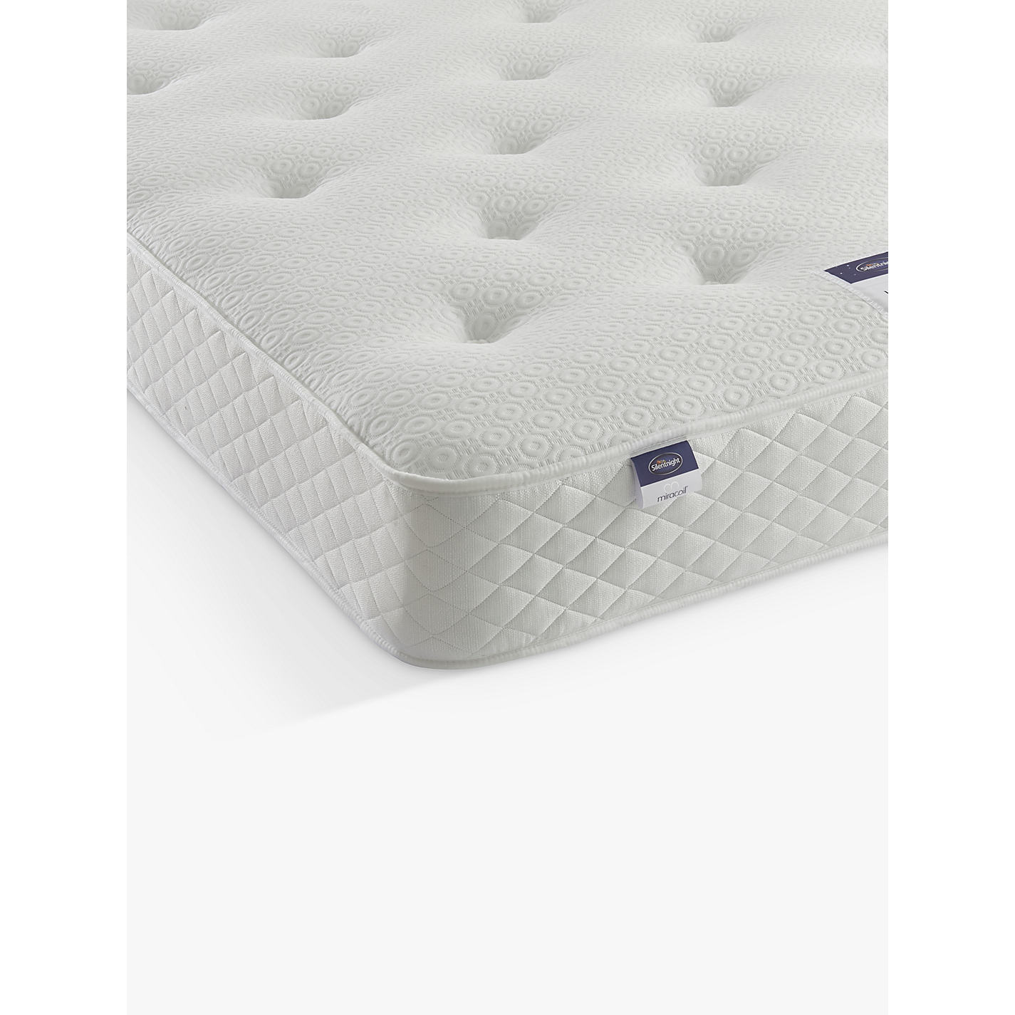 Silentnight Miracoil Ortho Open Spring Mattress Firm Double Online At Johnlewis