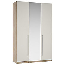 Buy House by John Lewis Mix it Tall Long T-Bar Handle Mirrored Triple Wardrobe, Matt Smoke/Grey Ash Online at johnlewis.com