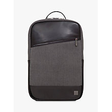 "Buy Knomo Southampton 15.6"" Laptop Backpack, Grey Online at johnlewis.com"