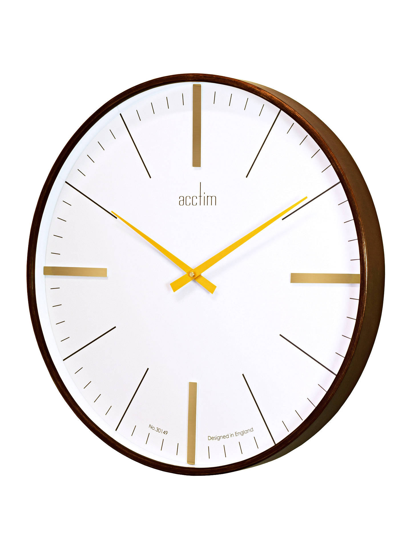 BuyAcctim Govan Oversized Wall Clock, Dia.53cm, Brown Online at johnlewis.com