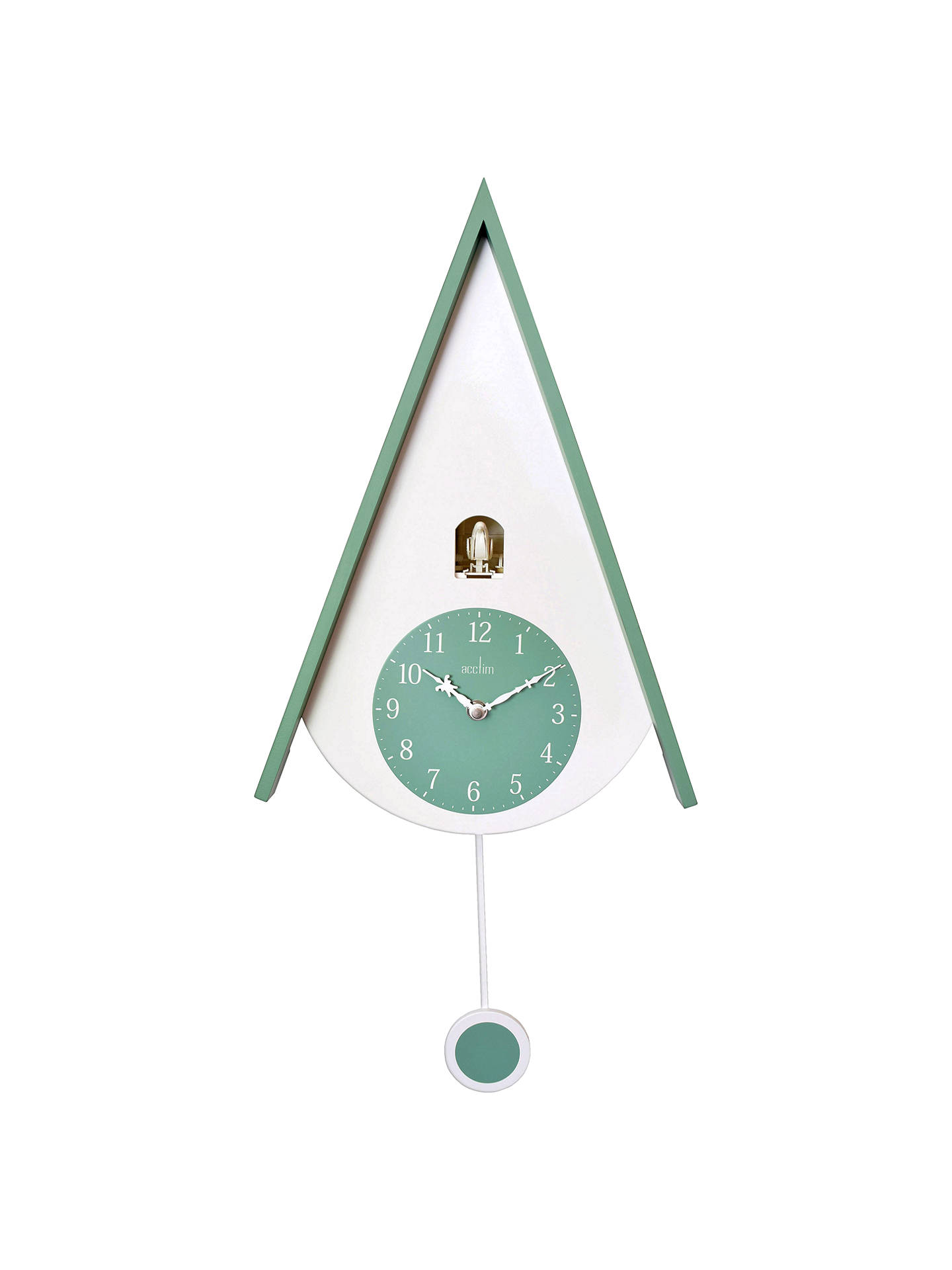 BuyAcctim Isky Cuckoo Wall Clock, Green Online at johnlewis.com