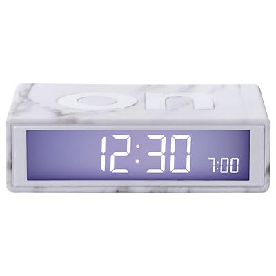 Lexon Flip Marble Alarm Clock