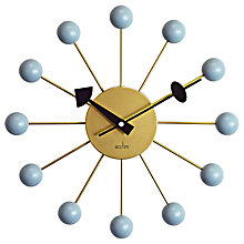 Buy Acctim Meta Wall Clock, Brass Online at johnlewis.com