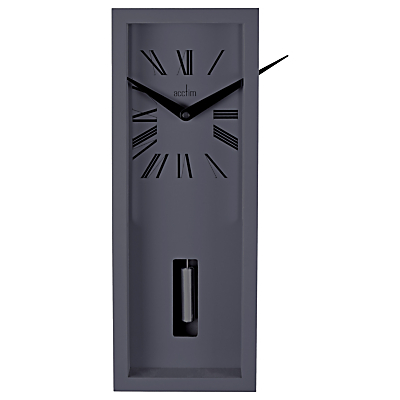 Image of Acctim Ulrik Pendulum Wall Clock, Sky Grey