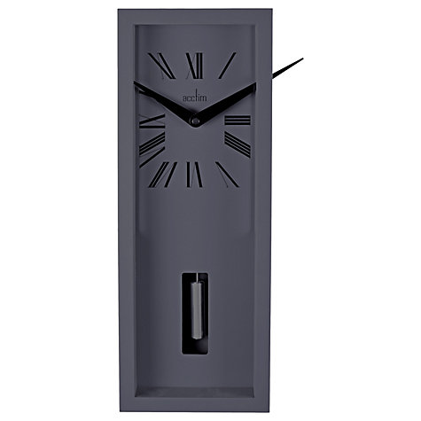 Buy Acctim Ulrik Pendulum Clock Sky Grey Online At Johnlewis