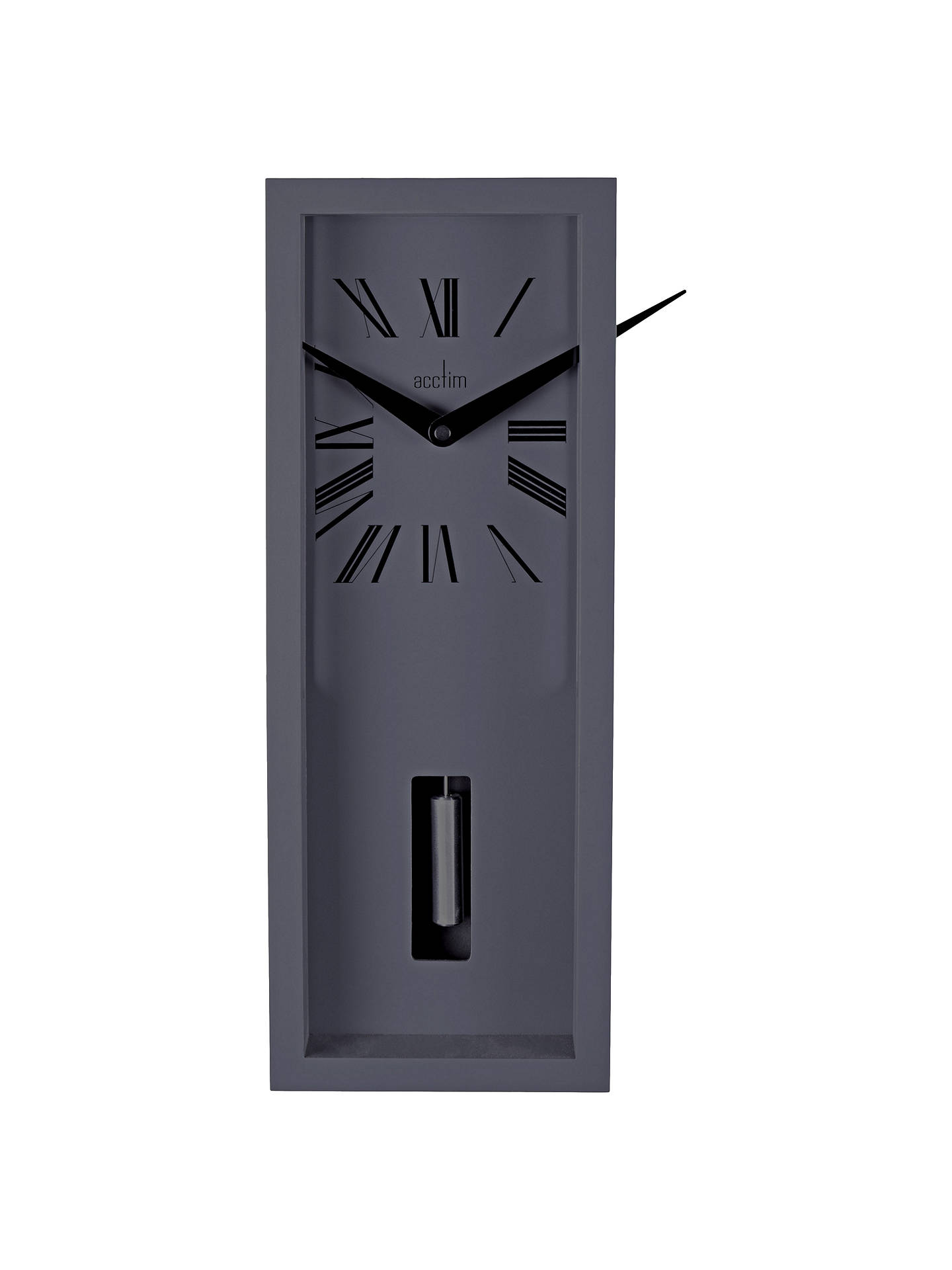 Buy Acctim Ulrik Pendulum Wall Clock, Sky Grey Online at johnlewis.com