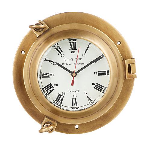 Buy John Lewis Porthole Wall Clock Brass John Lewis