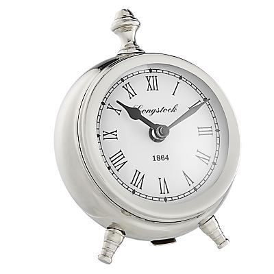 John Lewis Small Round Table Clock, H16cm