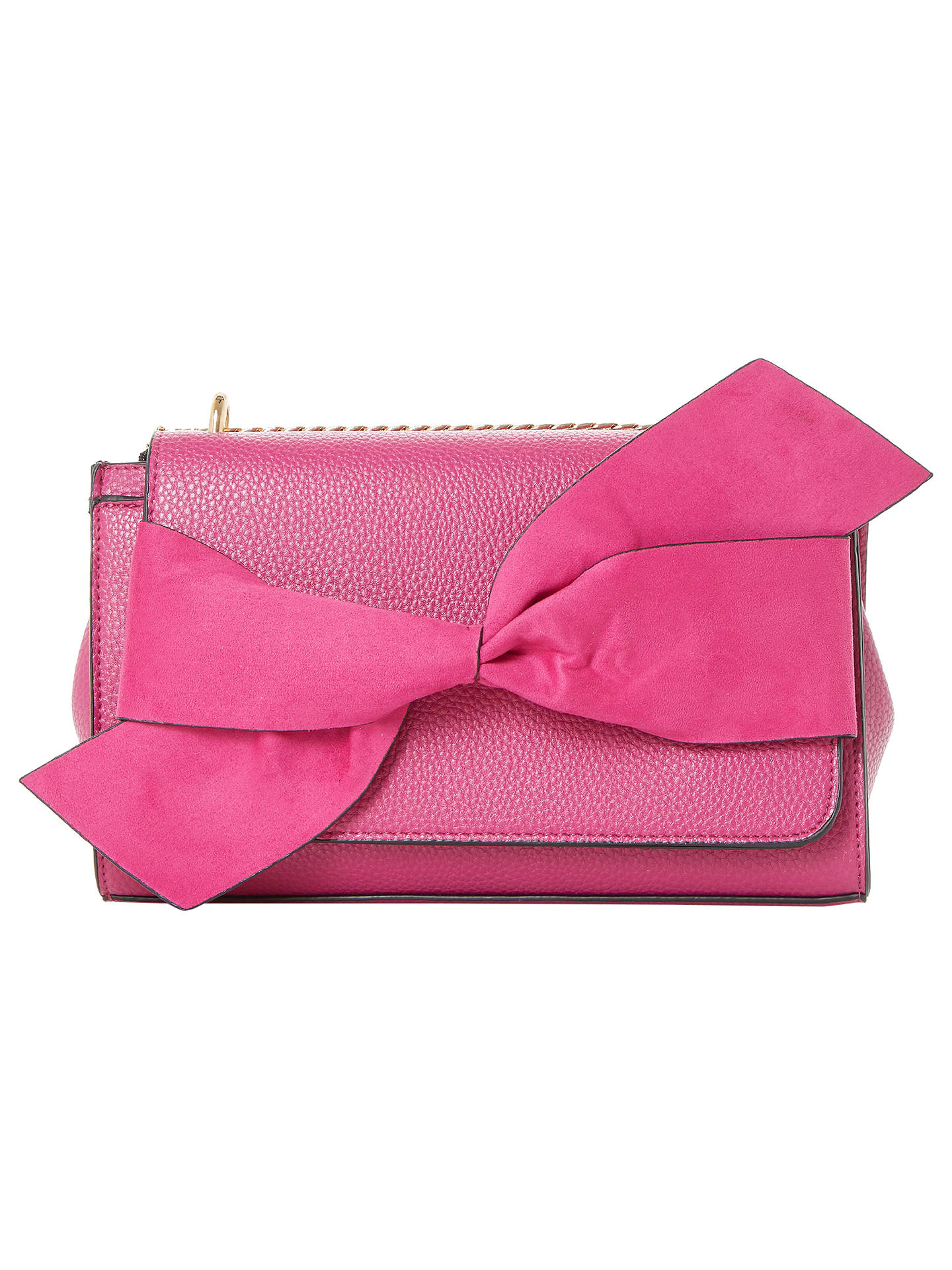 BuyDune Elloie Bow Clutch Bag, Pink Online at johnlewis.com