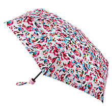 Buy Fulton Soho Digital Rose Print Umbrella, Pink Online at johnlewis.com