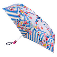 Buy Joules Whitstable Floral and Stripe Print Umbrella, Cream/Multi Online at johnlewis.com