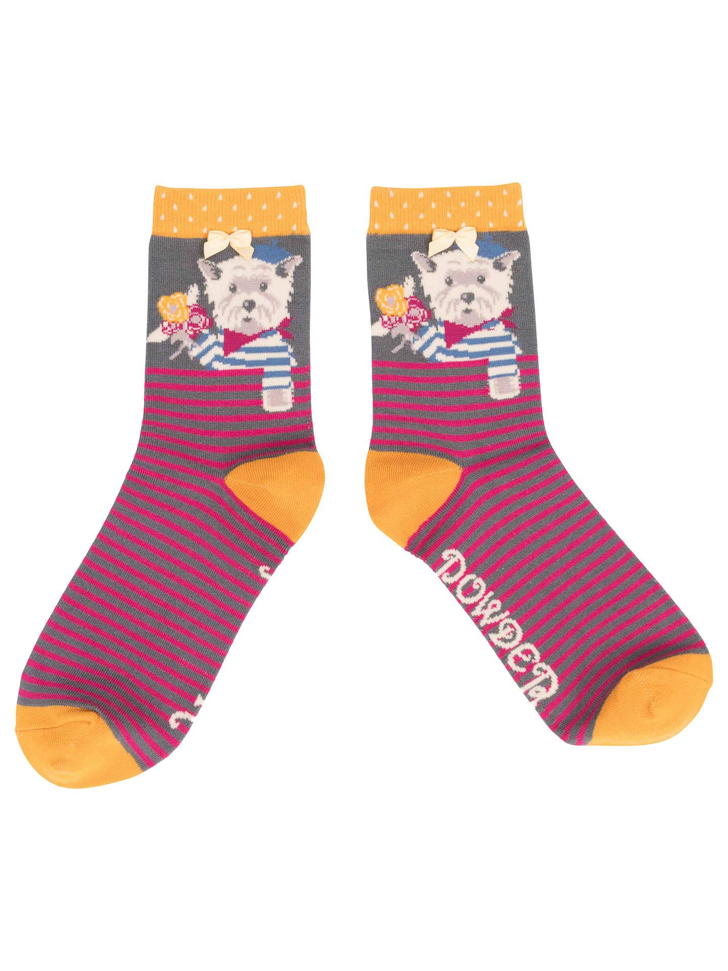a9ba4d53ae6 Buy Powder French Westie Terrier Dog Ankle Socks