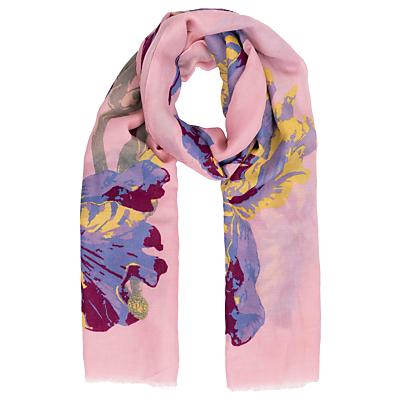 Powder Iris Print Scarf, Pink/Multi