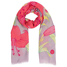 Buy Powder Lily Print Scarf, Mauve/Multi Online at johnlewis.com