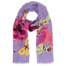 Buy Powder Poppy Print Scarf, Lavender/Multi Online at johnlewis.com