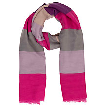 Buy Powder Wide Stripe Print Scarf, Fuchsia/Multi Online at johnlewis.com