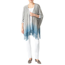Buy Pure Collection Dip Dye Knitted Poncho, Blue/Grey Online at johnlewis.com