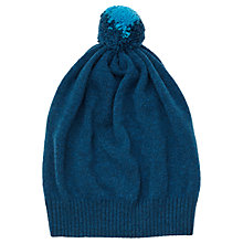 Buy Jigsaw Angus Wool Slouchy Hat, Blue Online at johnlewis.com