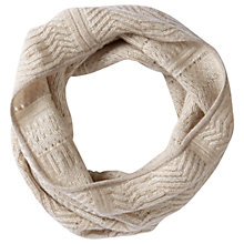 Buy Pure Collection Cashmere Textured Snood, Natural Online at johnlewis.com