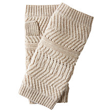 Buy Pure Collection Textured Cashmere Mittens, Natural Online at johnlewis.com