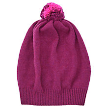Buy Jigsaw Angus Wool Slouchy Hat, Pink Online at johnlewis.com
