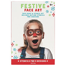 Buy NPW Children's Festive Face Art Face Paint And Stencil Set Online at johnlewis.com