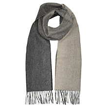 Buy Reiss Nero Lambswool Cashmere Fade Scarf Online at johnlewis.com