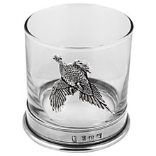 Buy English Pewter Company Pheasant Tumbler, Clear/Pewter Online at johnlewis.com