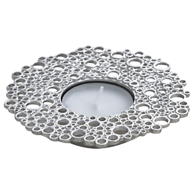 Lancaster and Gibbings Circles Tea Light Holder, Silver