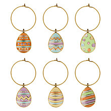 Buy John Lewis Easter Egg Wine Glass Charms, Assorted, Pack of 6 Online at johnlewis.com