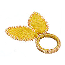 Easter table easter gifts john lewis buy john lewis easter bunny ear napkin rings yellow set of 4 online at negle Choice Image