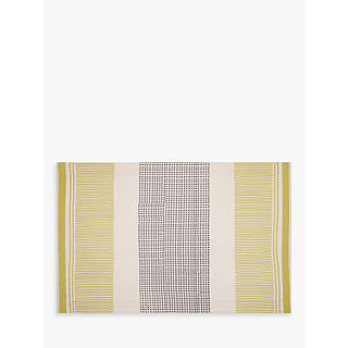John Lewis Polka Placemats Citrine Grey Set Of 2