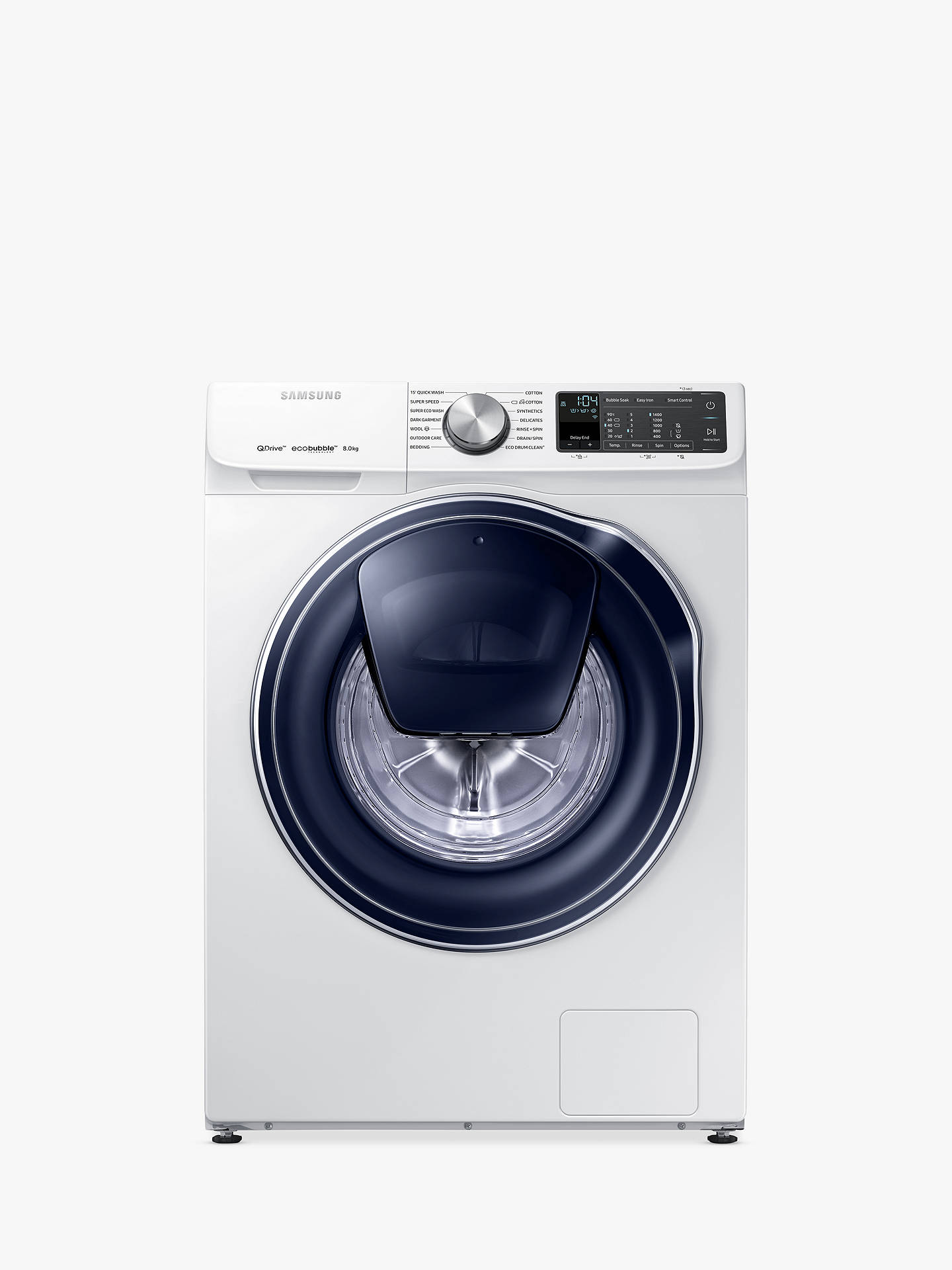 BuySamsung QuickDrive WW80M645OPM/EU Freestanding Washing Machine, 8kg Load, A+++ Energy Rating, 1400rpm Spin, White Online at johnlewis.com