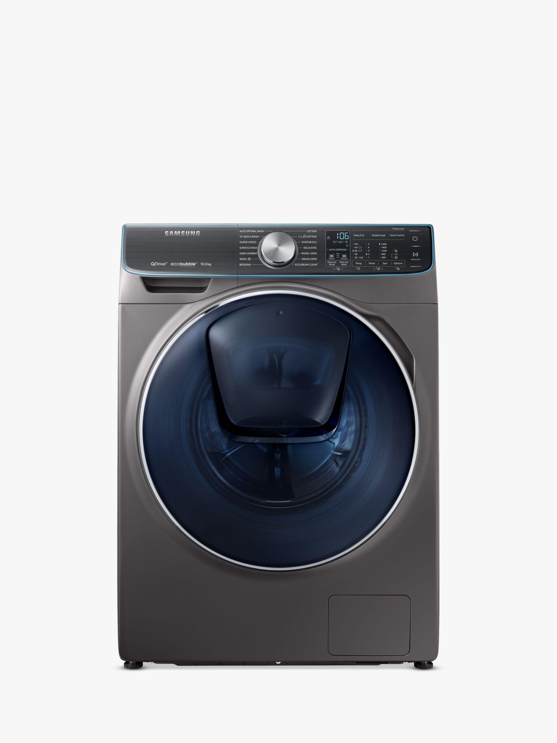 Samsung Samsung WW10M86DQOO/EU Freestanding QuickDrive Washing Machine, 10kg Load, A+++ Energy Rating, 1600rpm Spin, Graphite