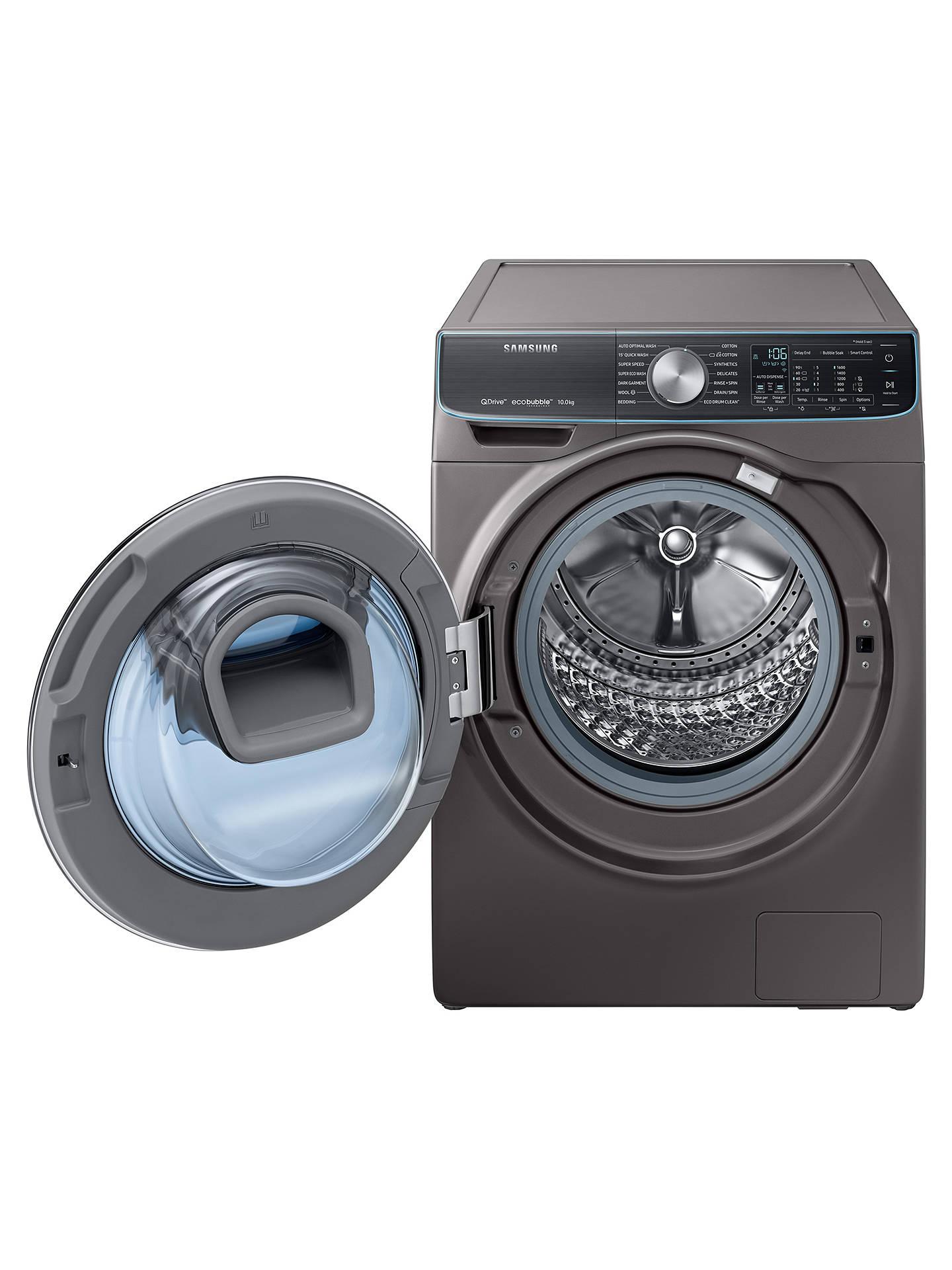 Samsung WW10M86DQOO/EU Freestanding QuickDrive Washing Machine, 10kg Load,  A+++ Energy Rating, 1600rpm Spin, Graphite