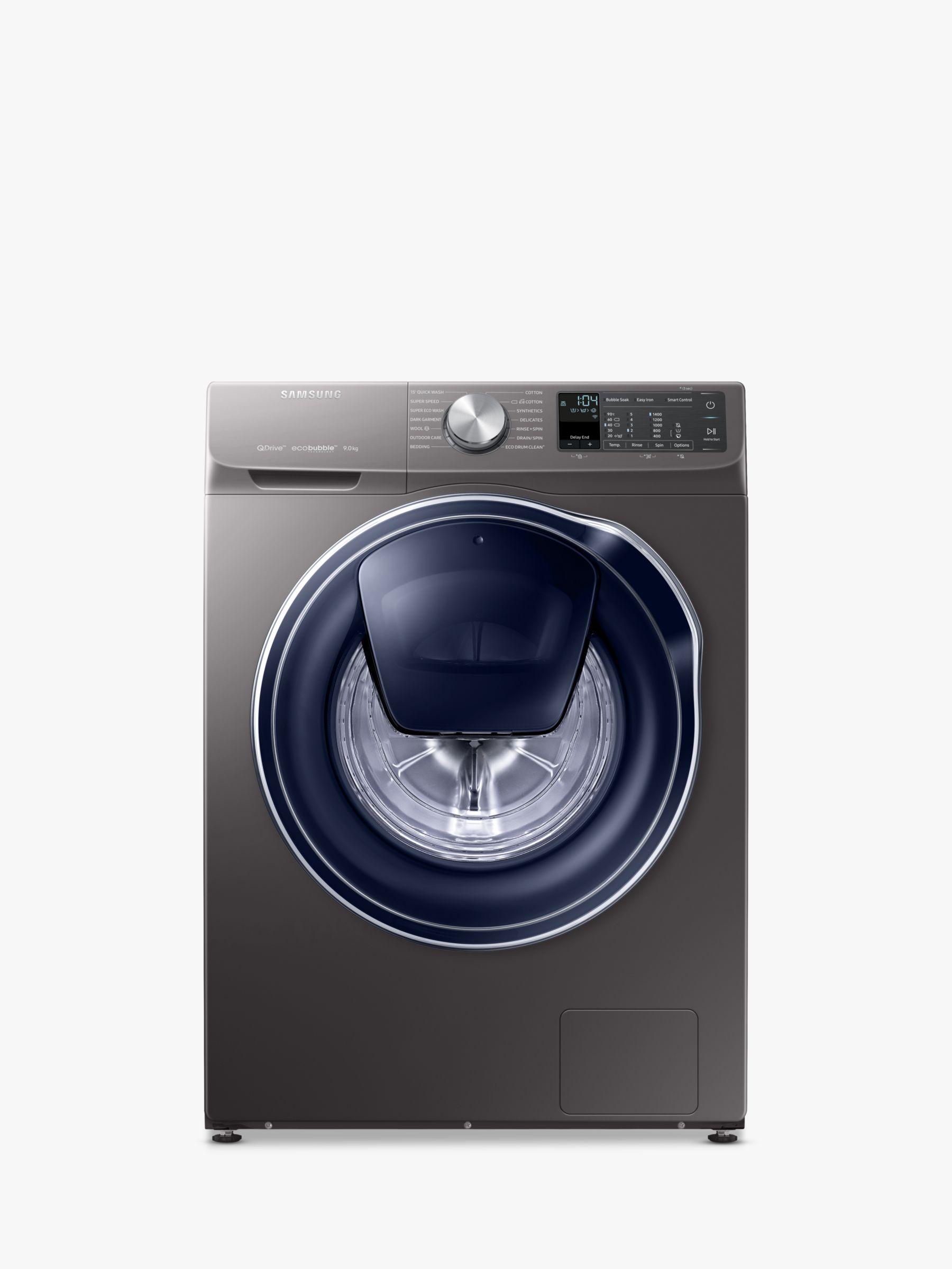 Samsung Samsung QuickDrive WW90M645OPO/EU Freestanding Washing Machine, 9kg Load, A+++ Energy Rating, 1400rpm Spin, Grey/Graphite