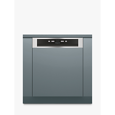 Hotpoint HBC2B19 X Integrated Dishwasher, Silver