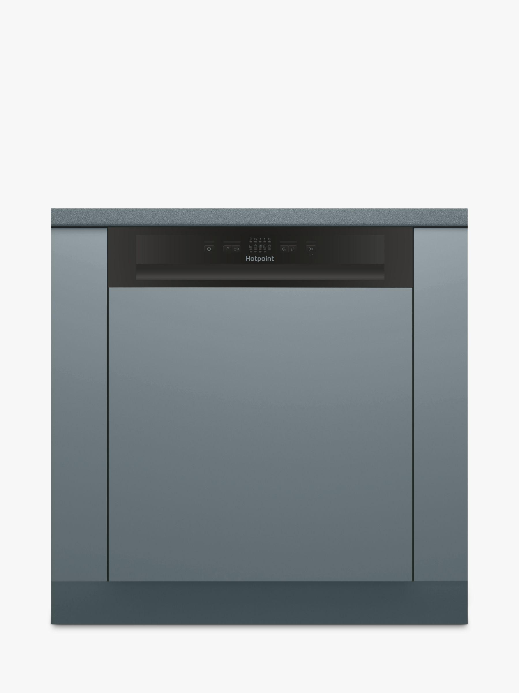Hotpoint Hotpoint HBC 2B19 Semi-integrated Dishwasher, Black