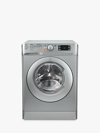 Indesit XWDE861480XS Washer Dryer, 8kg Wash/6kg Dry Load, A Energy Rating, 1400rpm Spin, Silver