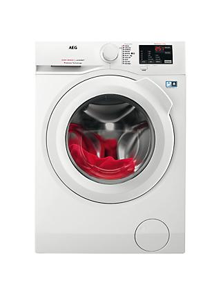 AEG L6FBI741N Freestanding Washing Machine, 7kg Load, A+++ Energy Rating, 1400rpm Spin, White