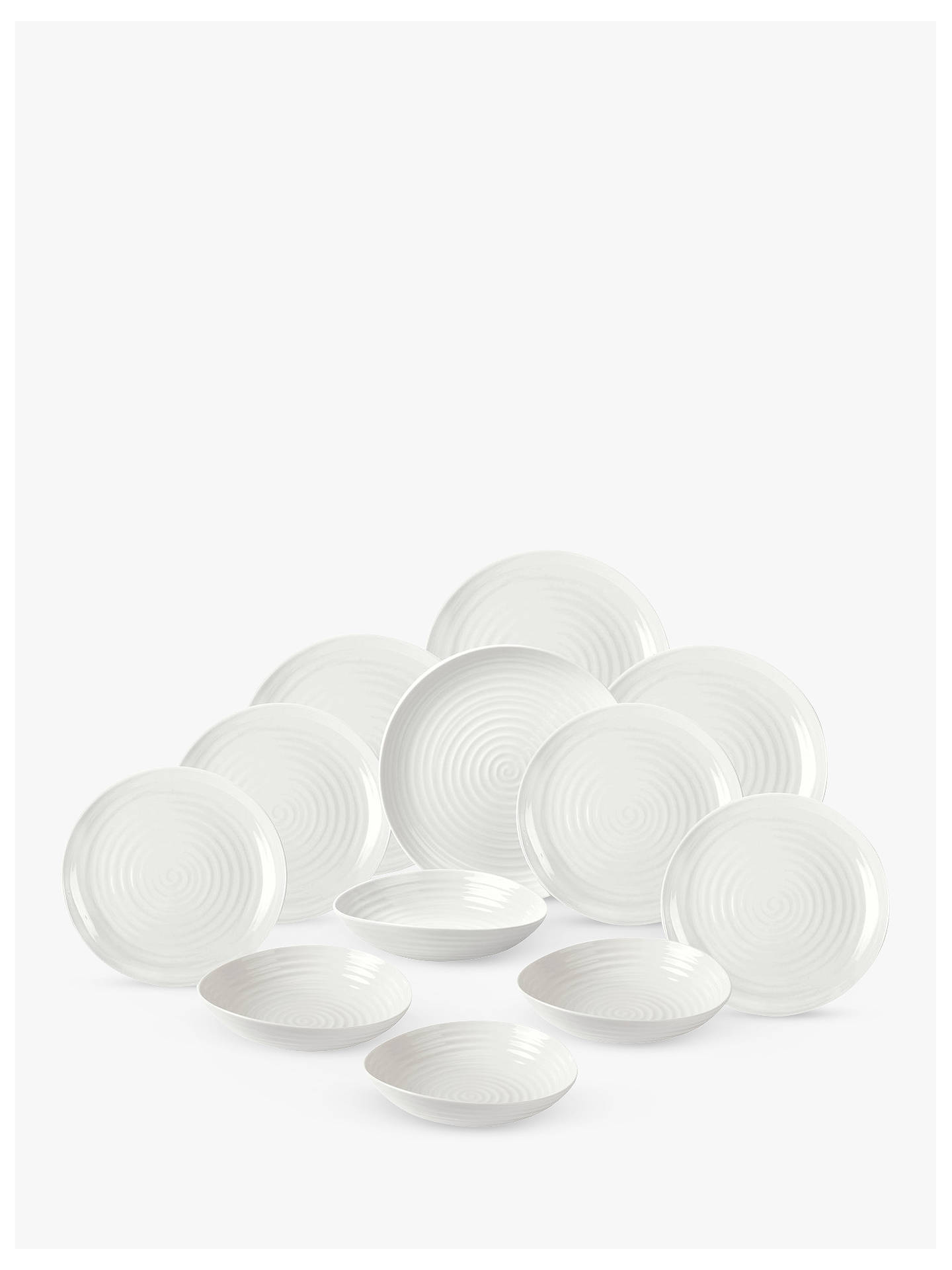 BuySophie Conran for Portmeirion Coupe Dinnerware Set, White, 12 Pieces Online at johnlewis.com