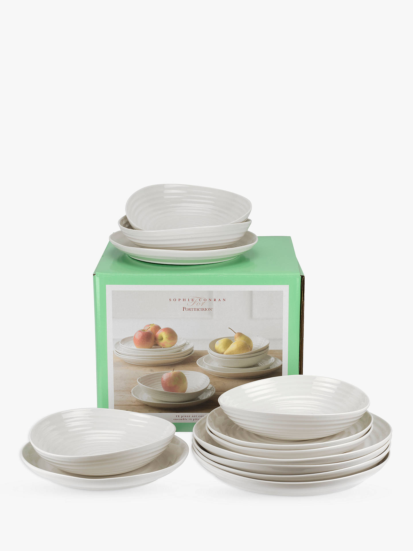 Buy Sophie Conran for Portmeirion Coupe Dinnerware Set, White, 12 Pieces Online at johnlewis.com