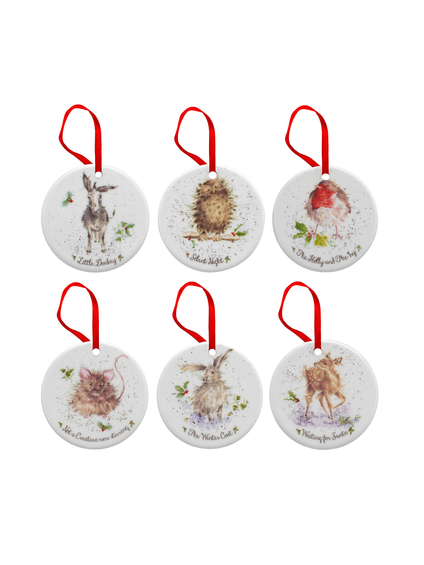 Buy Royal Worcester Wrendale 12 Days of Christmas Decorations, Set of 12 Online at johnlewis ...