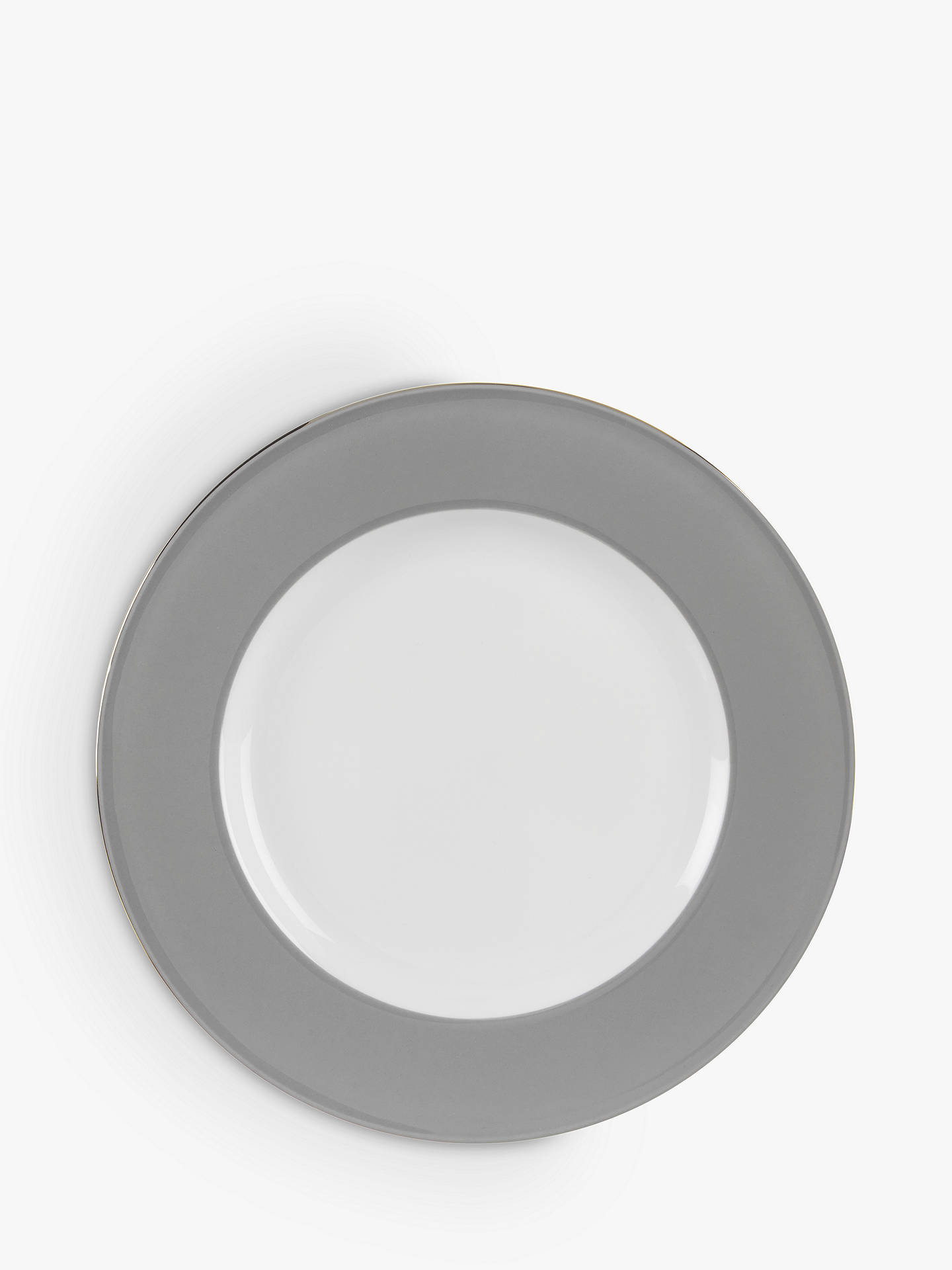 Buy John Lewis & Partners Cupola Side Plate, Dia.23cm, Grey Online at johnlewis.com